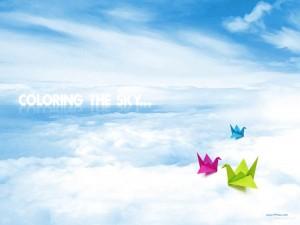 bird and cloud